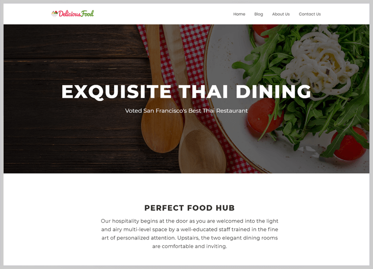 DeliciousFood - Elementor WordPress Themes