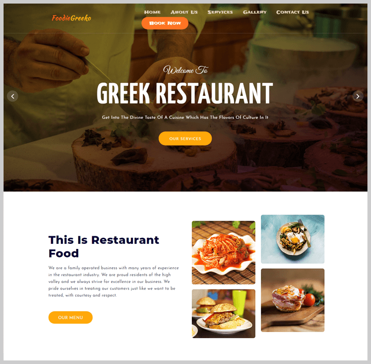 Foodiegreeko- Elementor WordPress theme