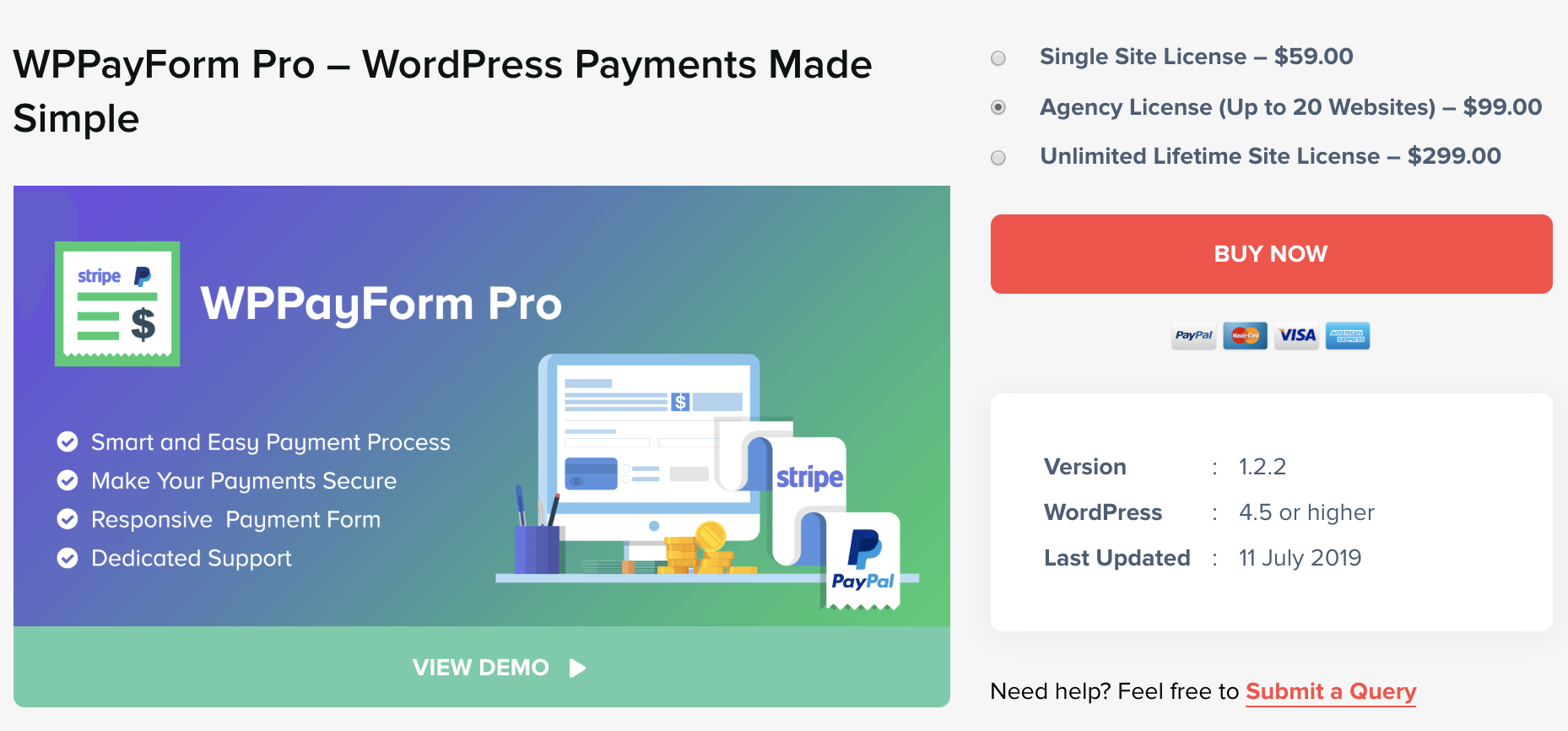 Landing Page - Payment Gateway WordPress Plugin