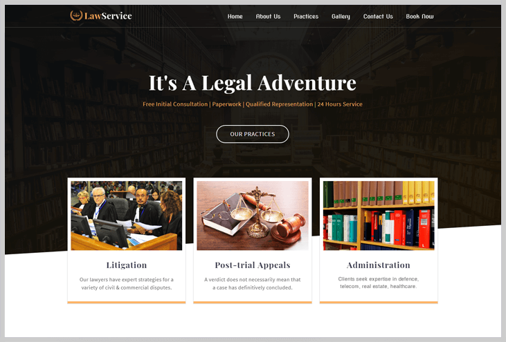 LawService - Elementor WordPress Themes