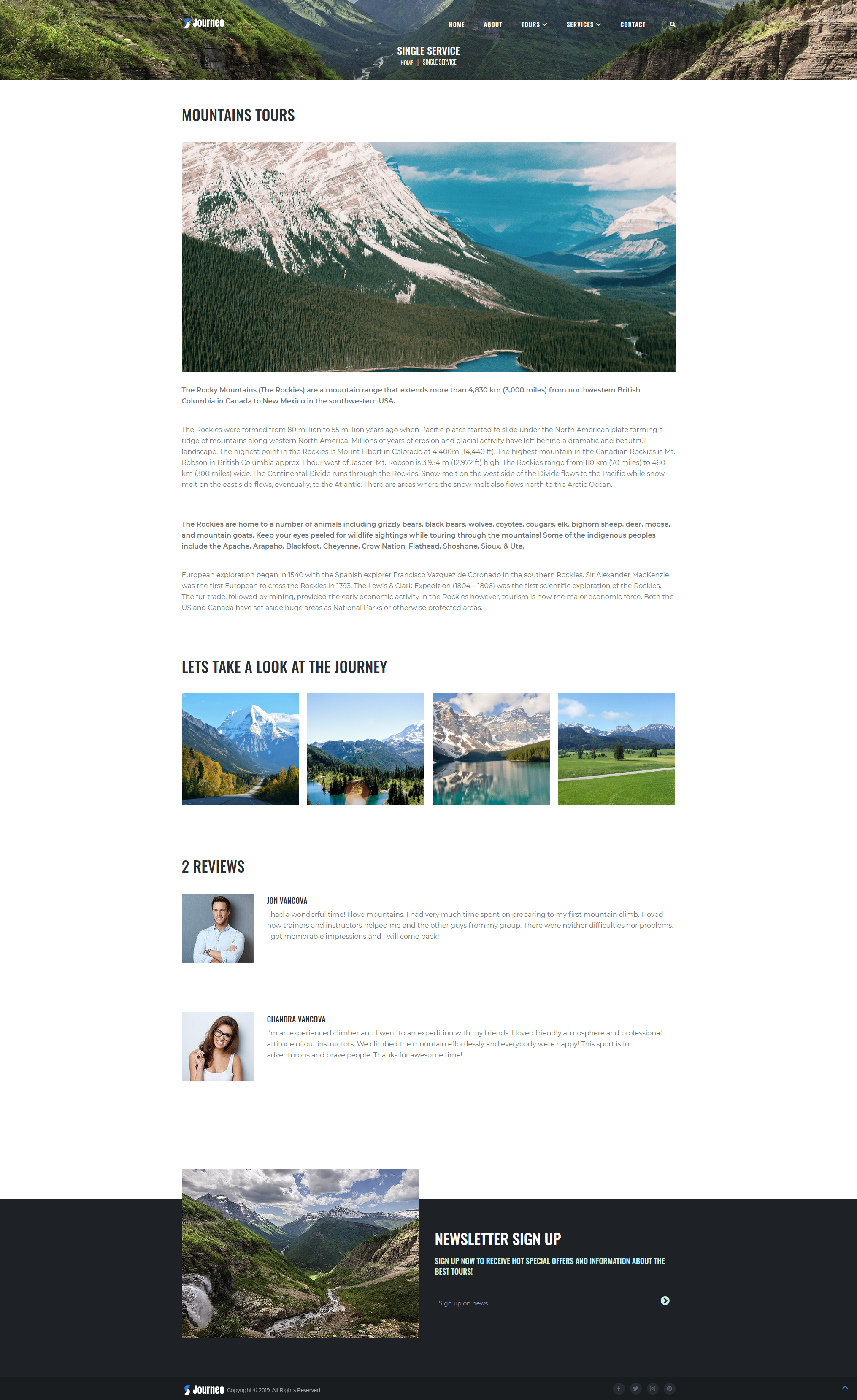 Services - WordPress Theme For Travel Agency