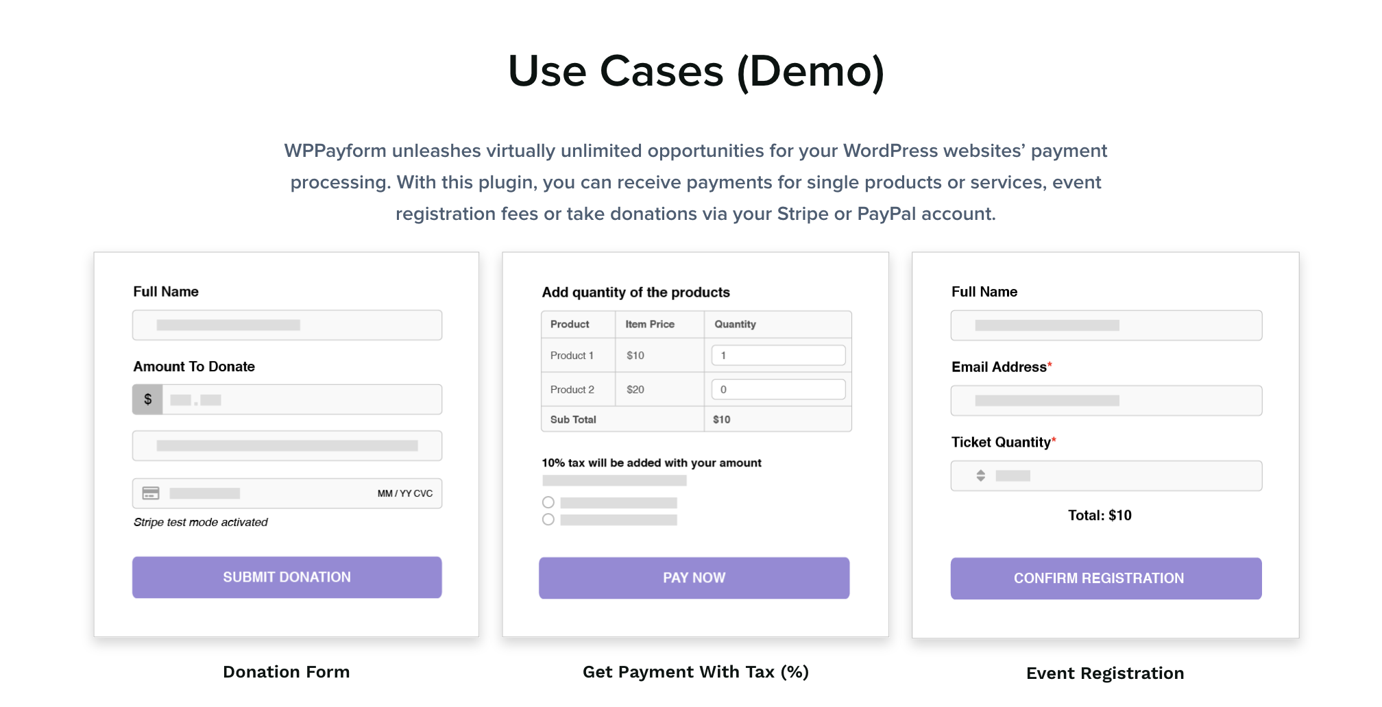Use Case - Payment Gateway WordPress Plugin