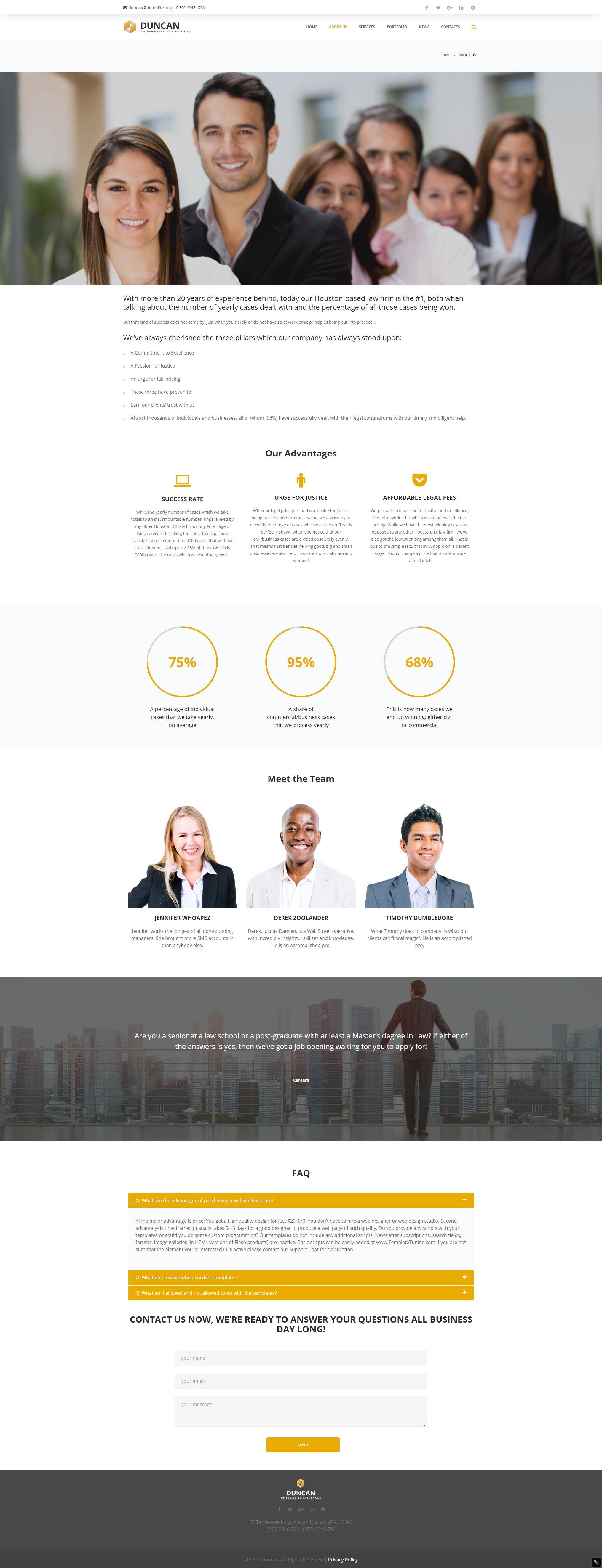 About us - Best Lawyer WordPress Theme