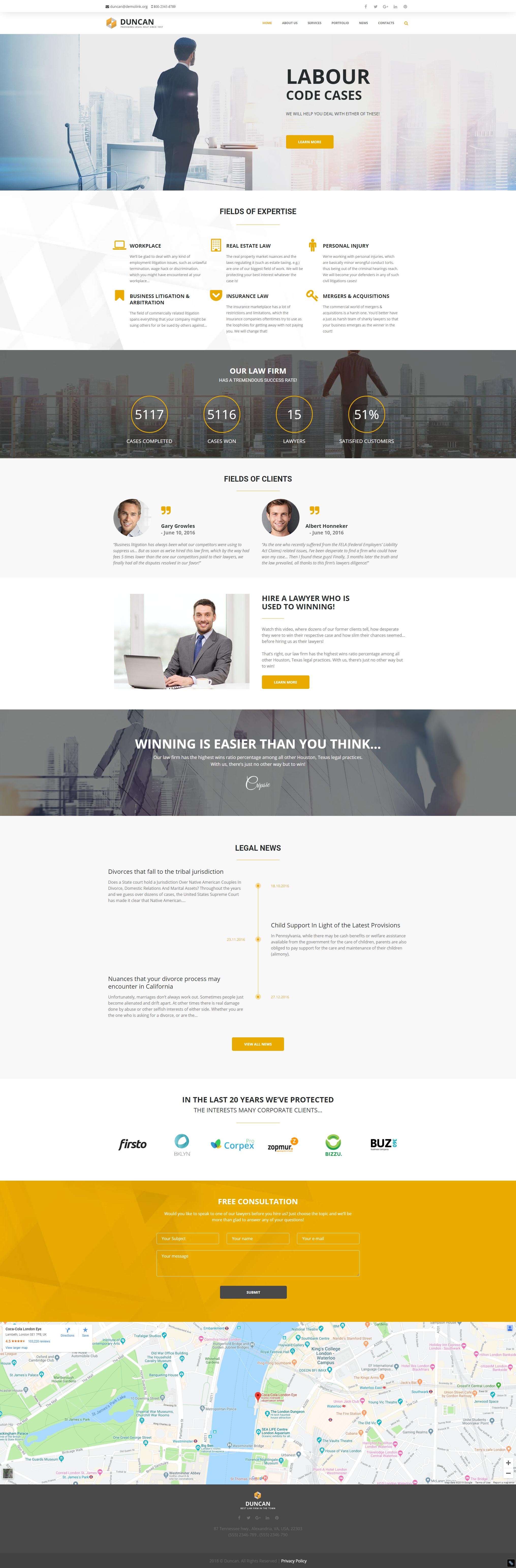 Home - Best Lawyer WordPress Theme