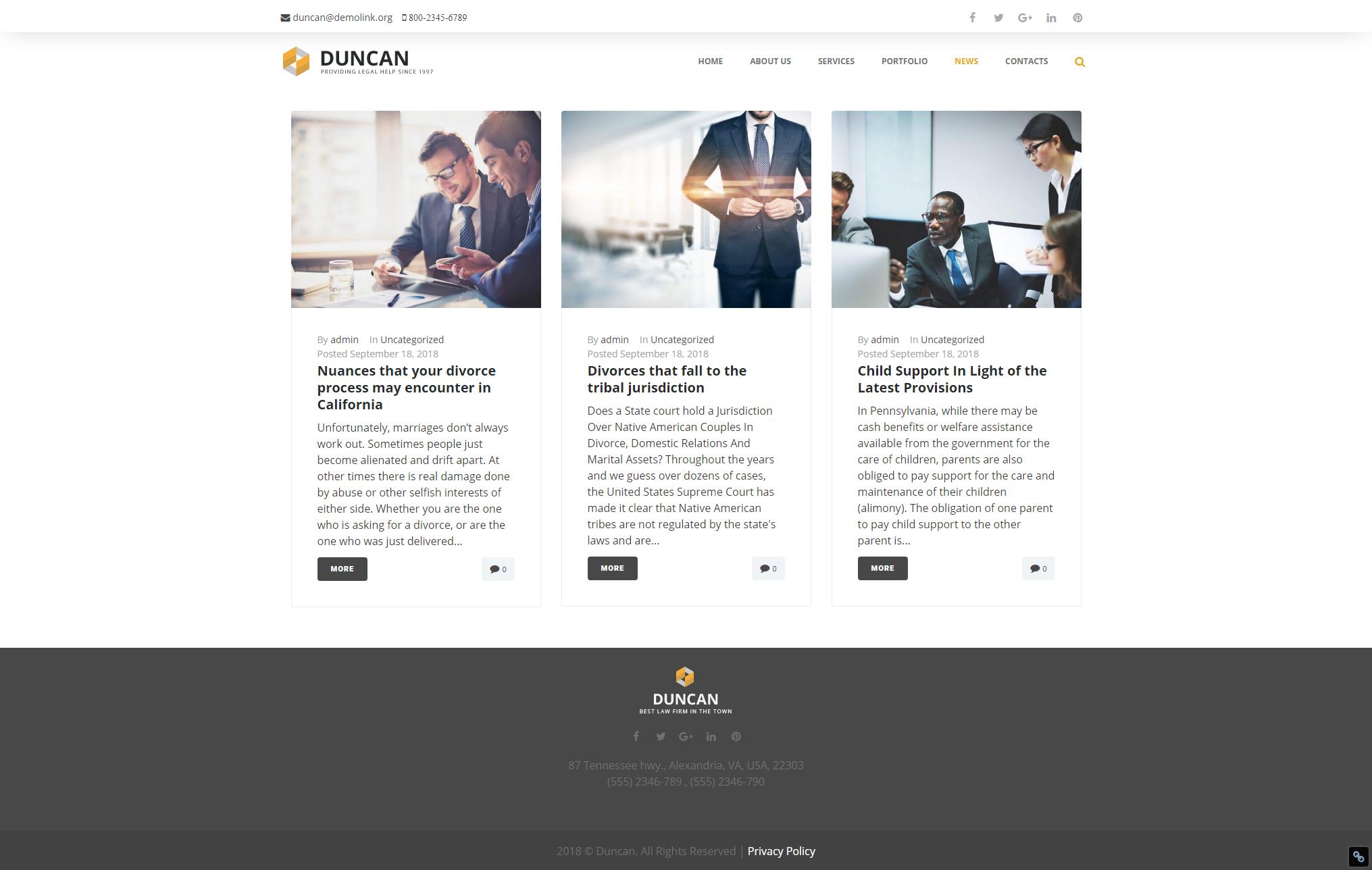 News - Best Lawyer WordPress Theme