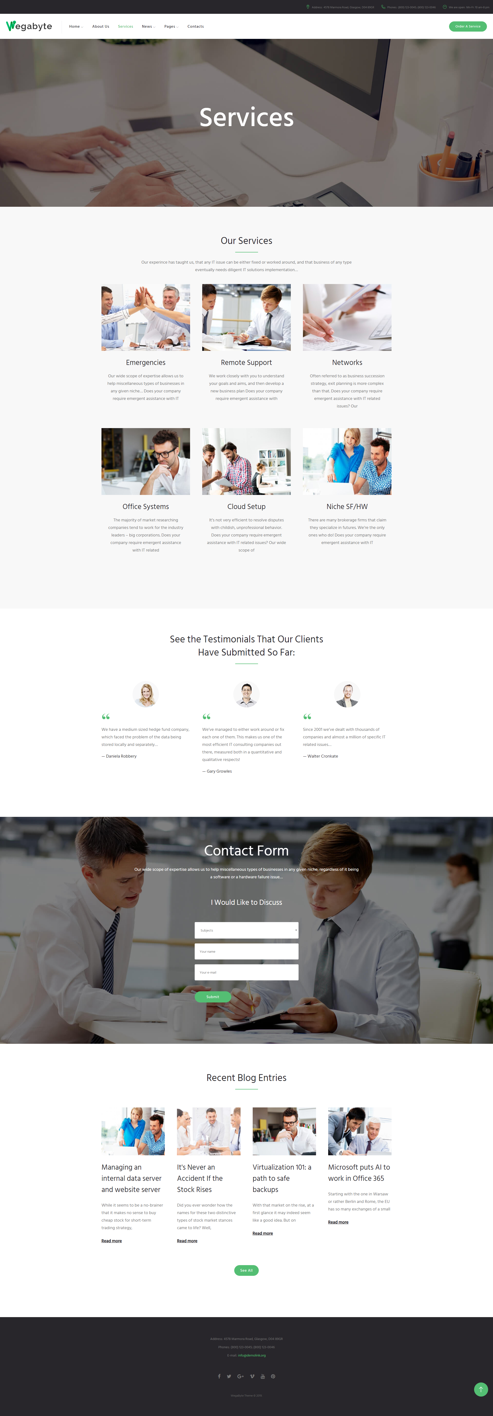 Services - IT Consultant WordPress Theme