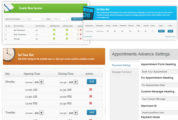 Form Setting - Appointment Booking Plugin