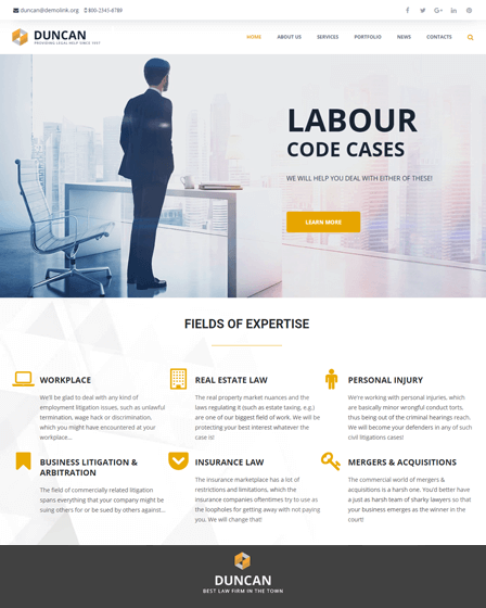 DUNCAN - LAWYER-COMPANY-RESPONSIVE-WORDPRESS-THEME