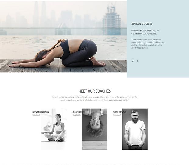 About - Yoga WordPress Theme