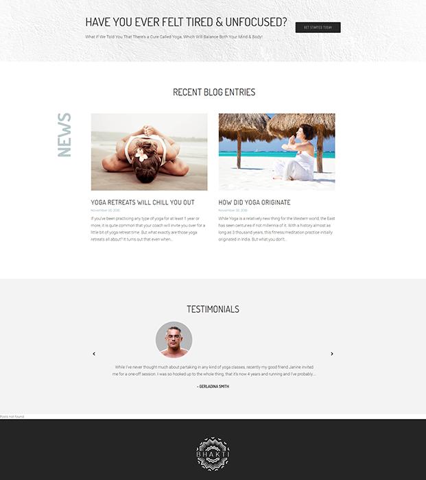 Testimonial - Yoga WordPress Theme