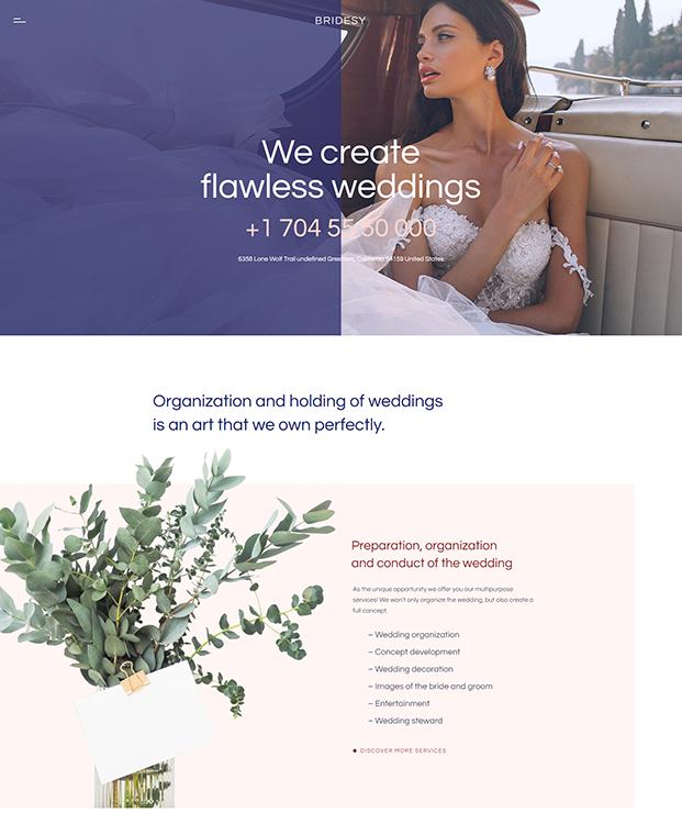 Home - Wedding WordPress Theme