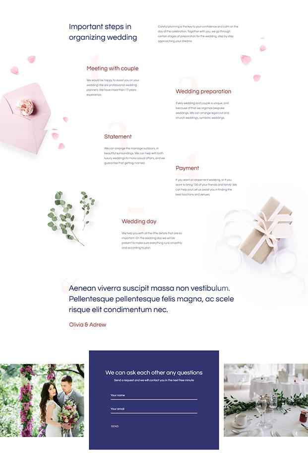 Planning - Wedding WordPress Theme