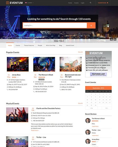 Eventum - Event WordPress Theme