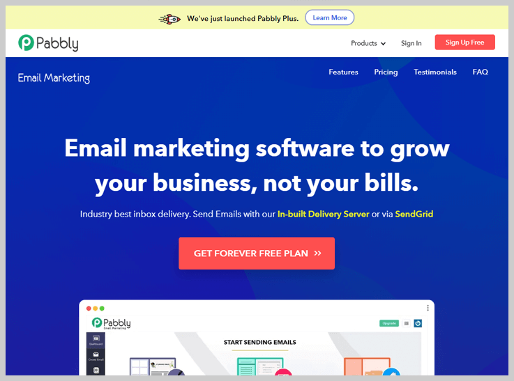 Pabbly Email Marketing - Free Template Builder