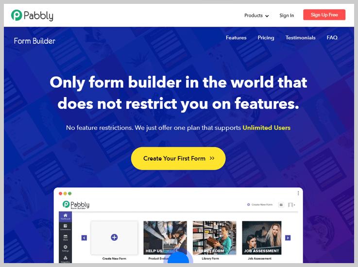 Pabbly Form Builder  - Best Google Forms Alternatives