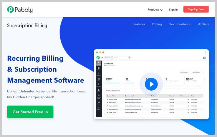 Pabbly Subscription Billing - Subscription Billing software