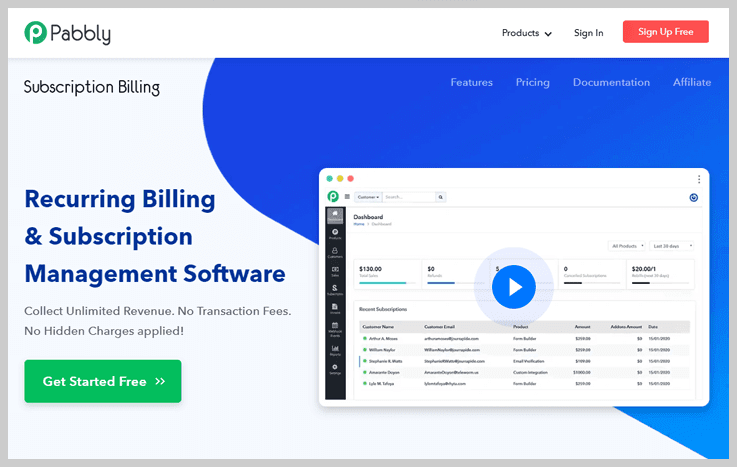 Pabbly Subscription Billing - Automated billing software