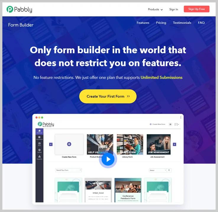 Pabbly Form Builder - Conditional Logic Form Builder