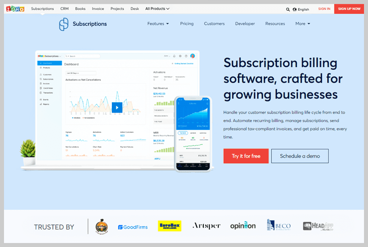 zoho subscription