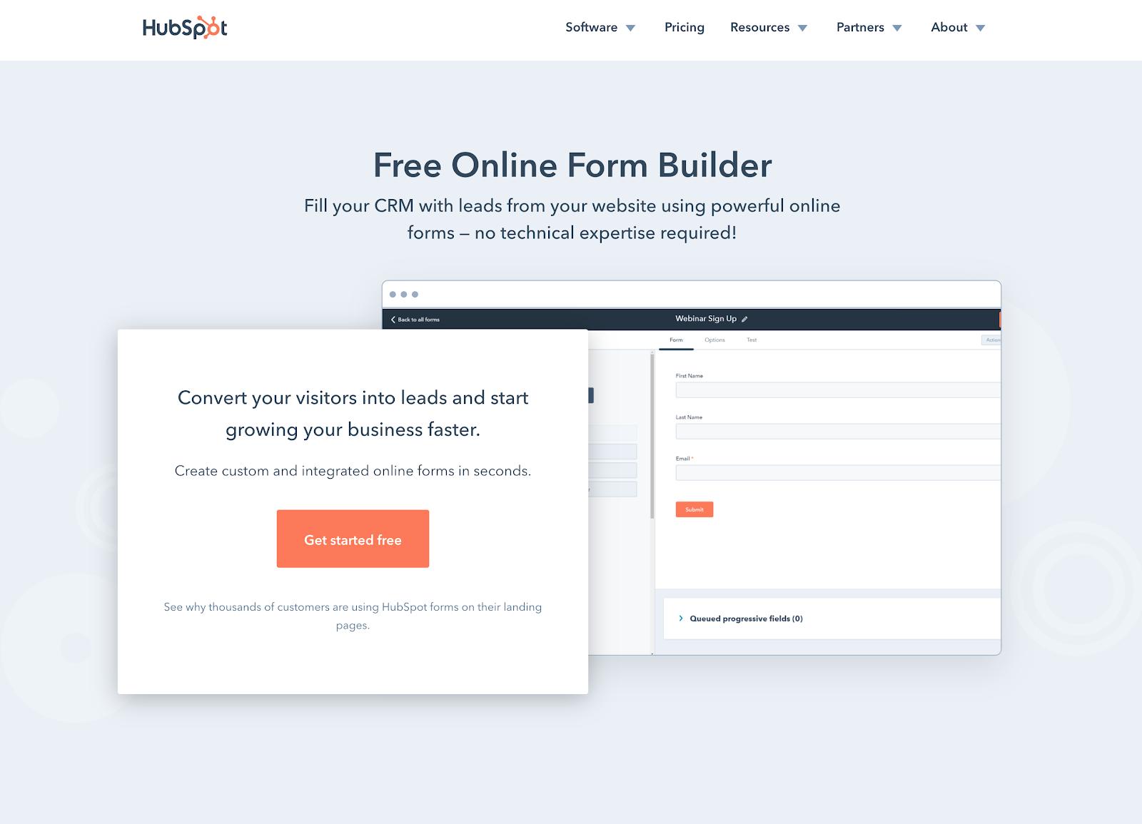 HubSpot Forms - Form Builder