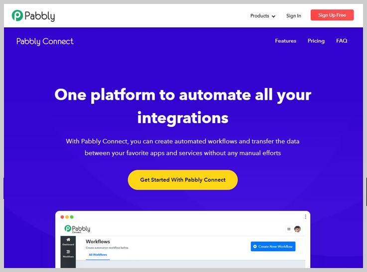 Pabbly Connect - Best Integromat Alternatives