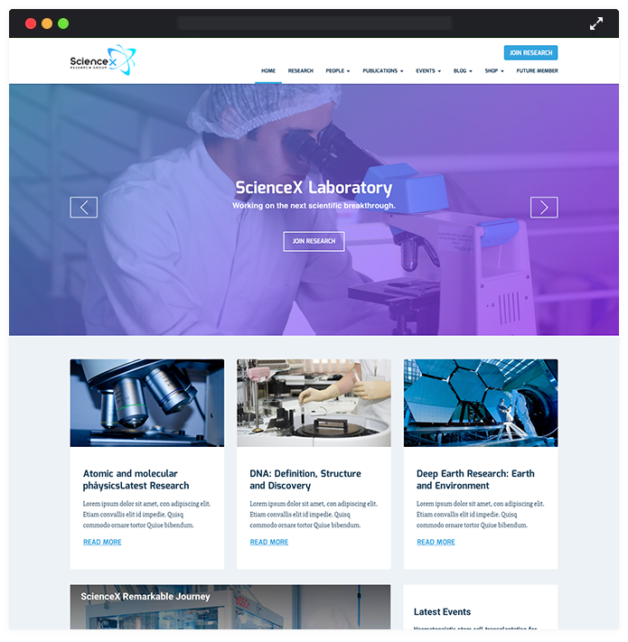 ScienceX WordPress Theme