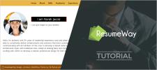 ResumeWay WordPress Portfolio Theme Tutorial