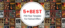 5+ Best PSD Flyer Templates for Festival Offers and Notifications