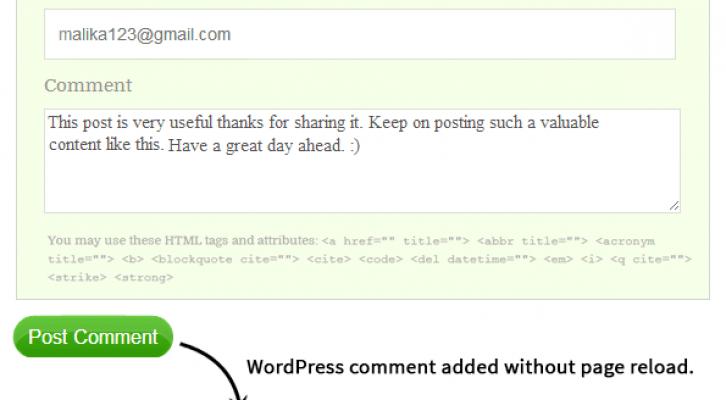 Ajax blog commenting system