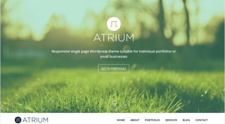 Atrium Best Responsive One Page WordPress Theme