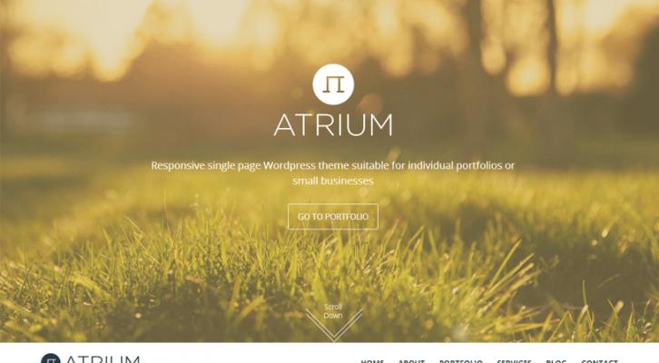 atrium - responsive one page wordpress theme