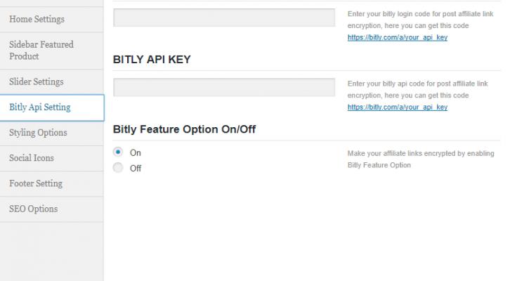 Bitly API Settings