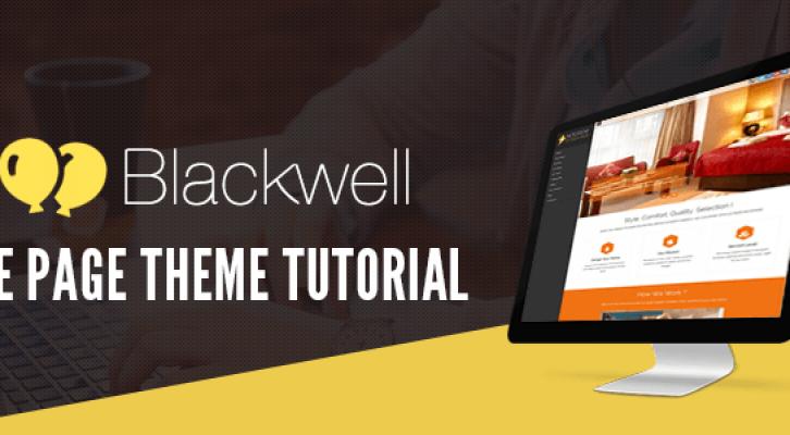 BlackWell WordPress One Page Theme Tutorialf
