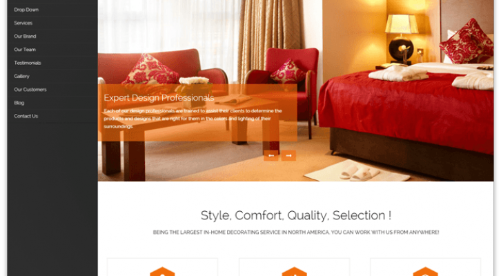 Blackwell WordPress Theme for Interior Decoration