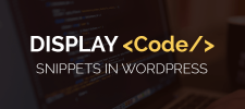 Display Code Snippets in WordPress Without Using Any Plugin