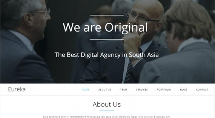 Eureka Best Responsive One Page WordPress Theme
