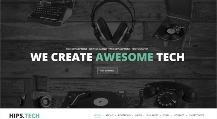 HipsTech Best Responsive One Page WordPress Theme