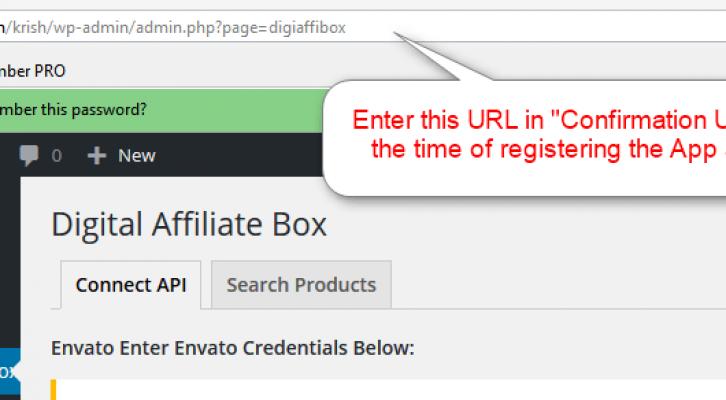Step3.2 Enter the Confirmation URL for Registering App