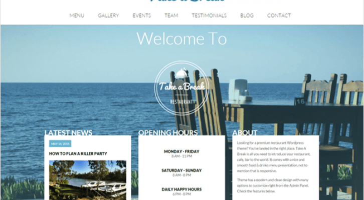 Take A Break-Best Responsive One Page WordPress Theme