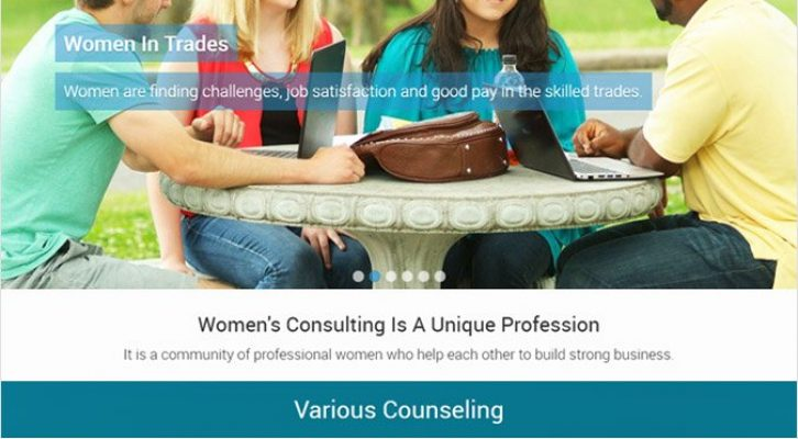 VConsulting Women's WP theme