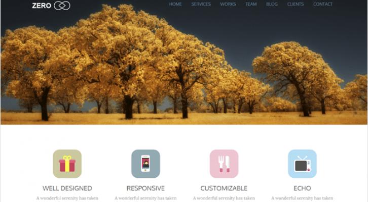 Zero Best Responsive One Page WordPress Theme