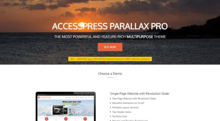 accesspress parallax pro wp theme