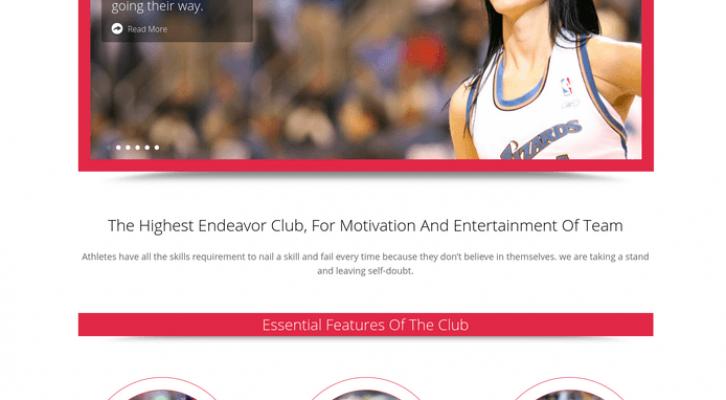 cheer club wp theme