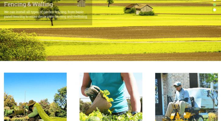 landscaping business wordpress theme