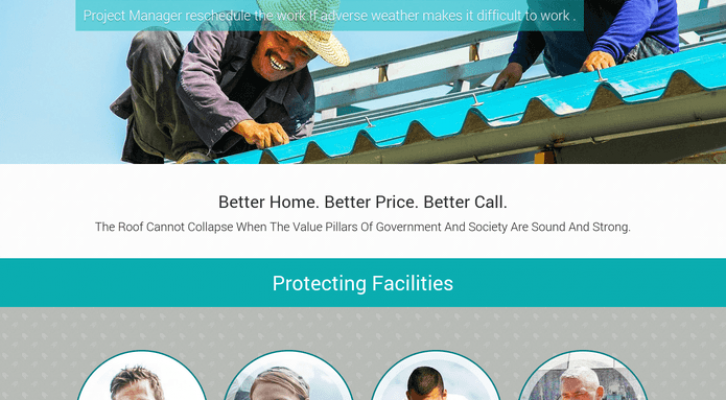 roof repair wp theme