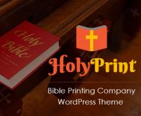 Holy Print - Bible Printing Company WordPress Theme & Template
