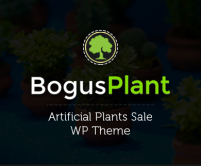 Bogus Plant - Artificial Plants Sale Wordpress Theme & Template