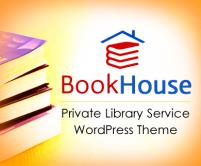 BookHouse - Private Library Service WordPress Theme