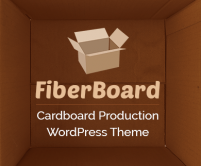 FiberBoard - Cardboard Production WordPress Theme