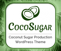 CocoSugar - Coconut Sugar Production WordPress Theme